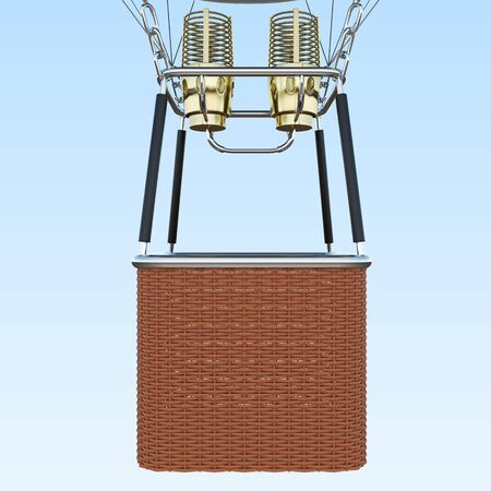 Basket on blue sky background, together with the burner. 3d rendering 版權商用圖片