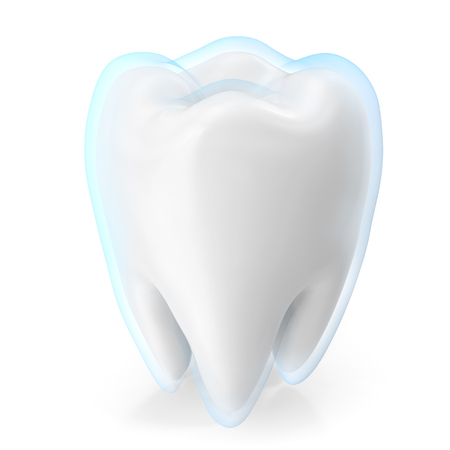 permanent: Teeth protection medicine and health concept design element. 3d rendering