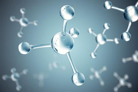 3D illustration molecules. Atoms bacgkround. Medical background for banner or flyer. Molecular structure at the atomic level. Banque d'images
