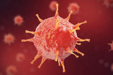 Viral hepatitis infection causing chronic liver disease , Hepatitis viruse, 3d illustration