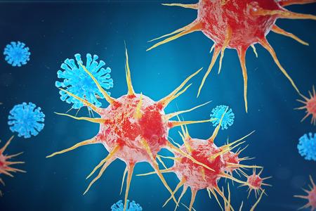Viral hepatitis infection causing chronic liver disease, Hepatitis viruses, 3d illustration