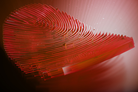 3D illustration Fingerprint scan provides security access with biometrics identification. Personal data hacking concept. Hacking, insecurity