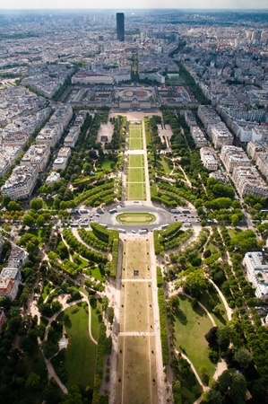trave: Champ de Mars - view from Eiffel tower