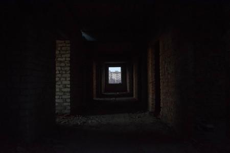 Brick unfinished building