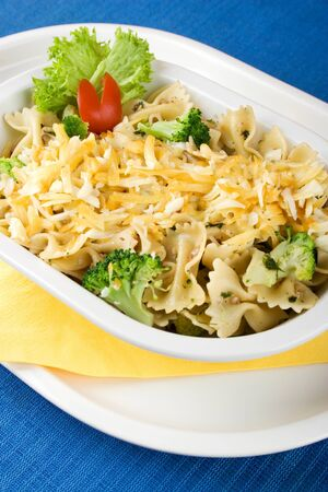 Light pasta salad with broccoli photo