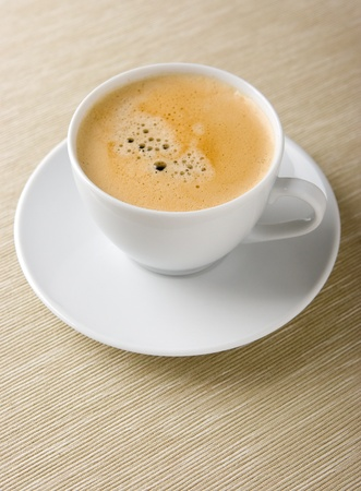 Primer plano de una deliciosa taza de caf� Foto de archivo