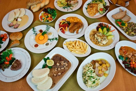 Table with delicious czech food  photo