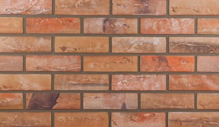 tileable: Detailed background of red brick wall texture