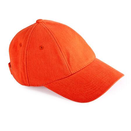 baseball cap: Orange baseball cap isolated on white background