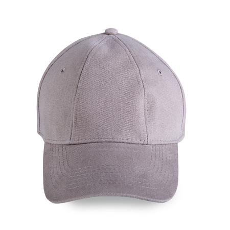 baseball cap: Gray baseball cap isolated on white background