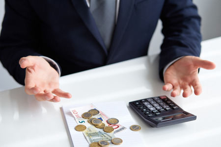 Man wonders why it is on the table so too little money