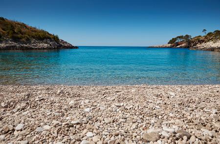 adriatic sea: Beach in the Adriatic Sea on the island of Hvar