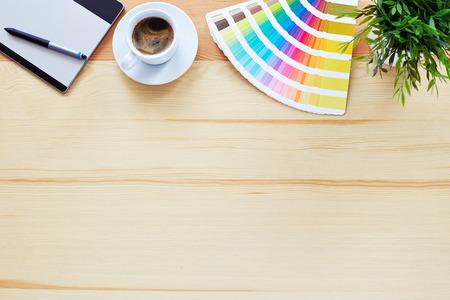 graficas: Vista superior de la tabla diseñador gráfico
