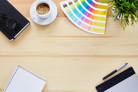 graphic backgrounds: Top view of the table graphic designer