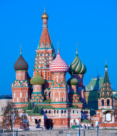 moscow churches: Saint Basil Stock Photo