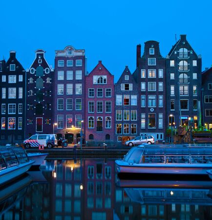 amsterdam: Canal houses on Singel, Amsterdam, Netherlands Editorial
