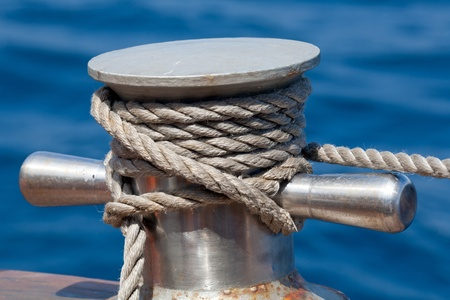 Vessel part with rope Stock Photo - 10316407