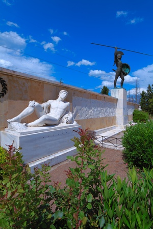 thessaly: Monument of tzar Leonid and 300 spartans, Thessaly, Greece