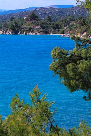 sithonia: Sithonia sea view, Chalkidiki, Greece Stock Photo