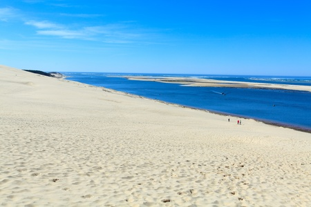 View from the highest dune in Europe - Dune of Pyla (Pilat), Arcachon Bay, Aquitaine, France photo