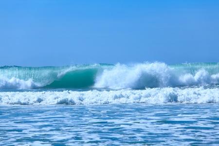 Atlentic oceaangolven de buurt van Biarritz, Frankrijk
