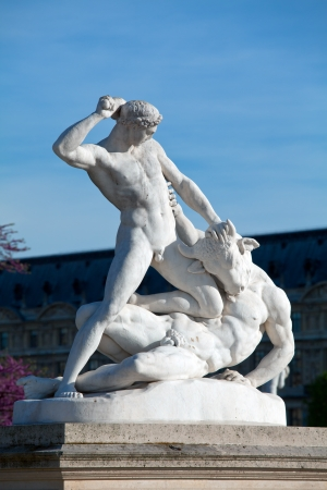 Theseus and the Minotaur (1821) by Jules Ramey in Jardin des Tuileries (The Tuileries Garden), Paris, France
