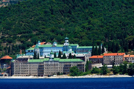 panteleimon: Saint Panteleimon Monastery, Athos Peninsula, Mount Athos, Chalkidiki, Greece Editorial