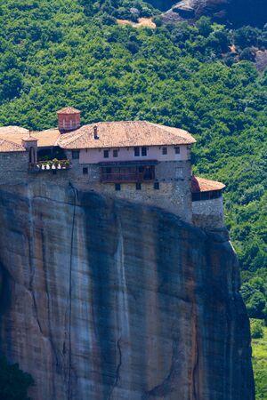 thessaly: Roussanou monastery, Meteora, Thessaly, Greece Editorial
