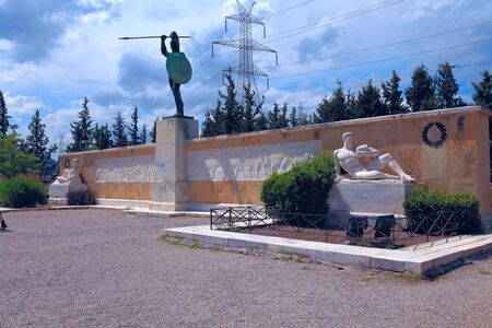 thessaly: Monumet of king Leonidas and 300 spartans, Thessaly, Greece