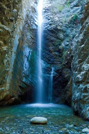 Chantara Waterfalls in Trodos mountains, Cyprus