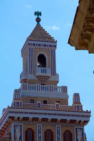 quartier g�n�ral: Ancien chef de quart de Baccardi, La Havane, Cuba �ditoriale