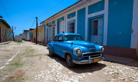 Houses in the old town, Trinidad, Cuba Editorial