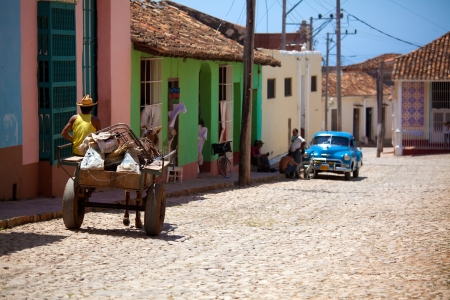 Houses in the old town, Trinidad, Cuba Stock Photo