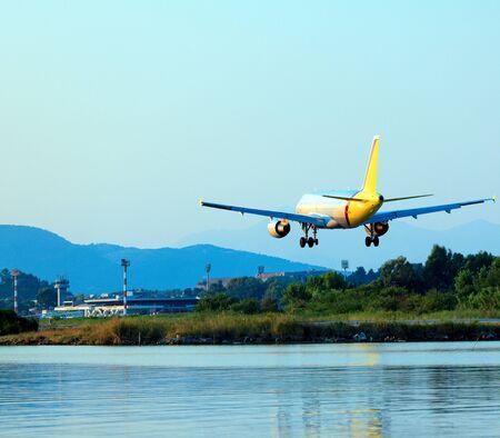 Landing of airplane, Corfu
