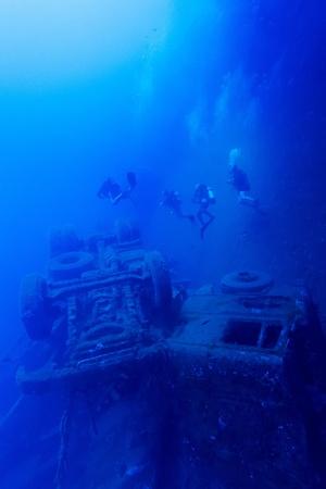 penetracion: Zenobia naufragio cerca de Paphos, Chipre Foto de archivo