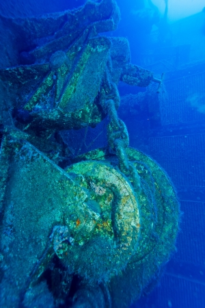 Zenobia ship wreck near Paphos, Cyprus  photo