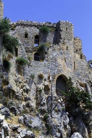 st hilarion: Saint Hilarion Castle in Kyrenia mountain range, North Cyprus