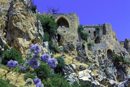 Saint Hilarion Castle in Kyrenia mountain range, North Cyprus