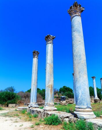 Ruins of Salamis, Famagusta aeria, North Cyprus photo