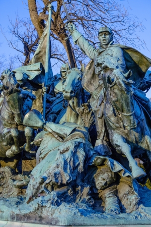 ulysses s  grant: Cavalry Group in Monument of  Ulysses S  Grant near Capitol, USA