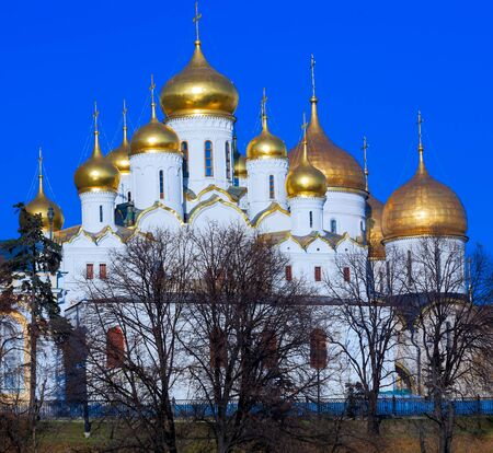sobor: Cathedral of the Annunciation (Blagoveschensky sobor) (1489) in Moscow Kremlin, Russia