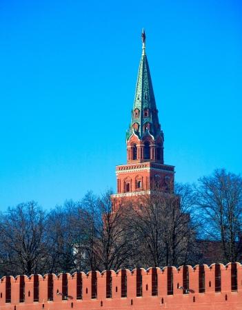 Borovitskaya tower, Kremlin, Moscow, Russia  Stock Photo - 15840516