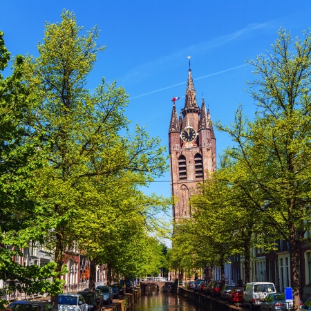 Oude Kerk (Old Church) (14th-15th cent.), Delft, Netherlands 新聞圖片
