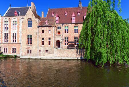 Dijver canal, Bruges, Belgium photo