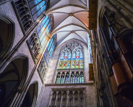 Interior of Gothic Cologne Cathedral, Germany