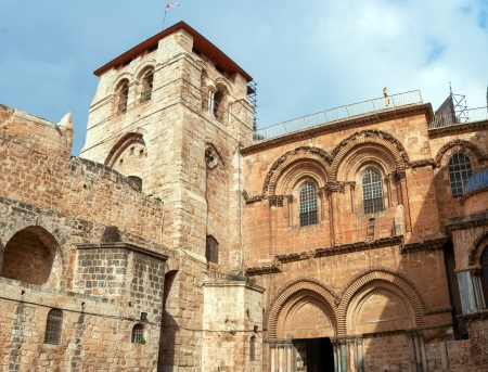Facade of Famous Church of the Holy Sepulchre, Jerusalem Stock Photo - 18443076
