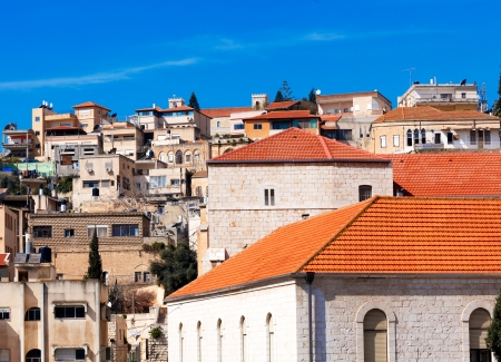 nazareth: Roofs of Old City in Nazareth, Israel