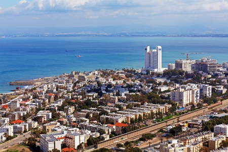 Panoramic Aerial View of Haifa, Israel photo