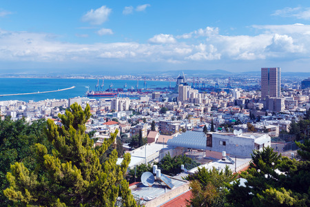 Panoramic Aerial View of Haifa, Israel photo