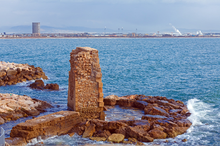Remains of Ancient Harbor Wall, Acre photo